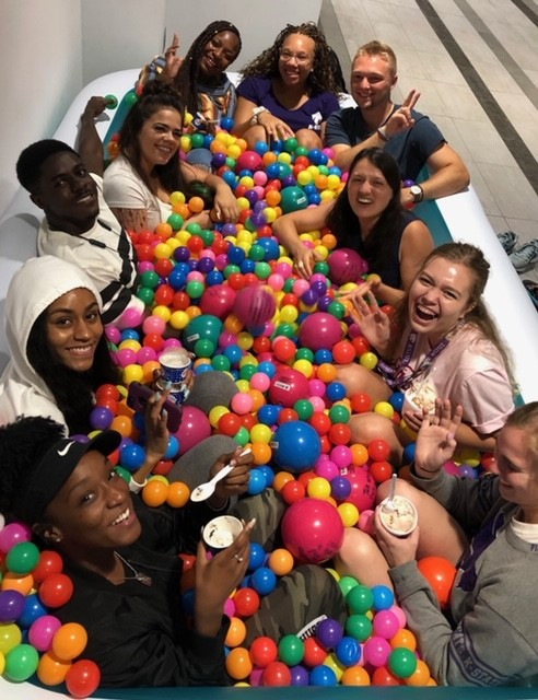 Jumbo Ball Pit with 10 students